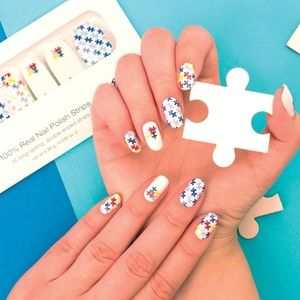 Color street nails autism awareness retired